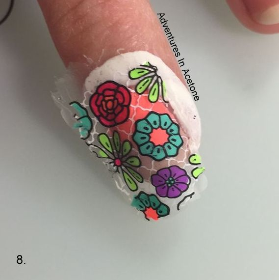 Double Stamping Floral Decals Tutorial Step 8