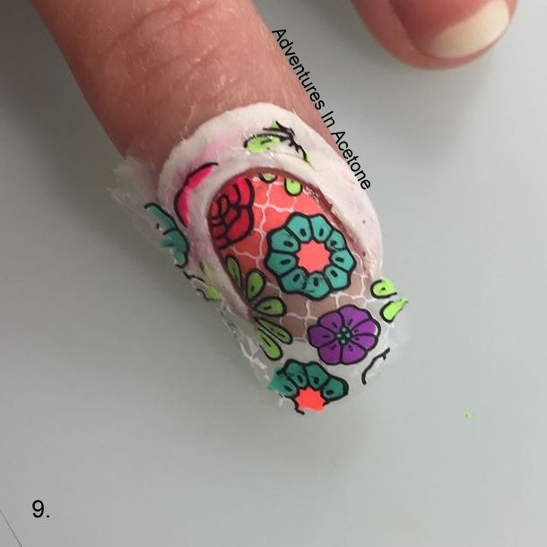 Double Stamping Floral Decals Tutorial Step 9