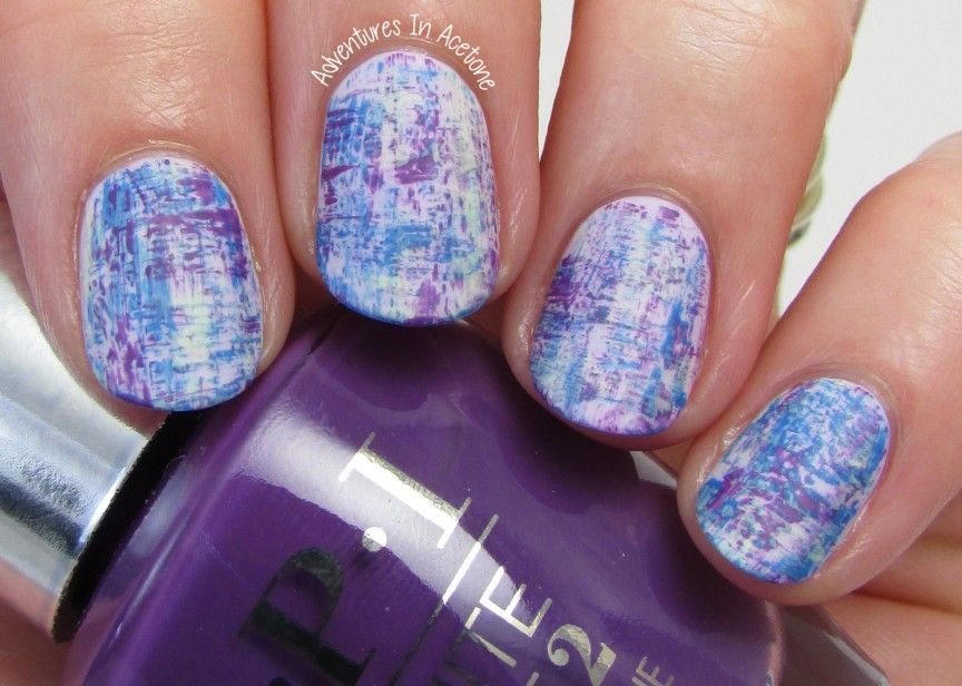 Dry Brush Nail Art With Opi Infinite Shine Summer Adventures In