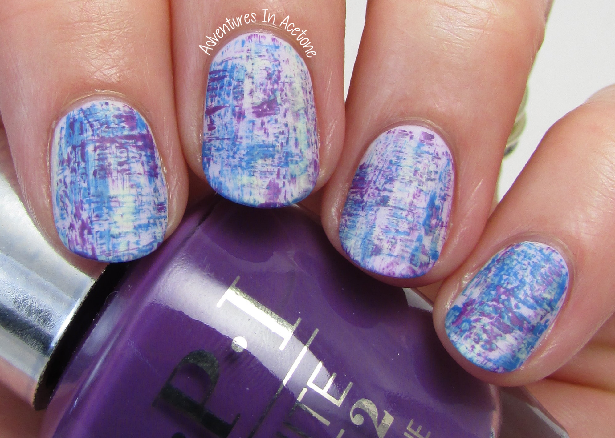 Dry Brush Nail Art With OPI Infinite Shine Summer! - Adventures In ...