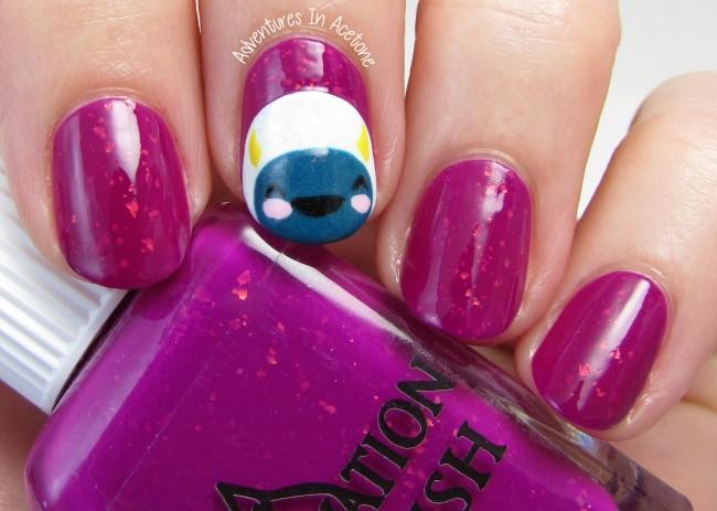 Elevation Polish Little Sister Plush Yeti nail art 1