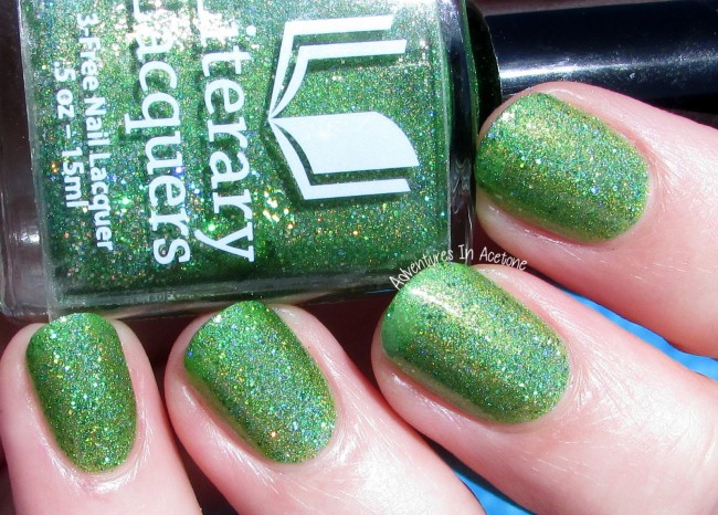 Literary Lacquers Can't Work By Lime Light holo 2