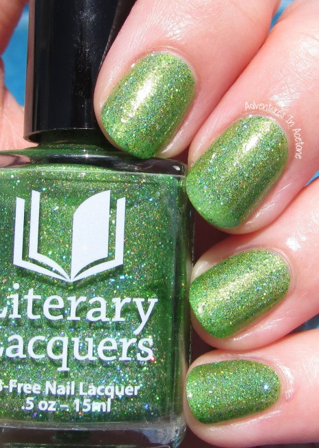 Literary Lacquers Can't Work By Lime Light sunlight 1