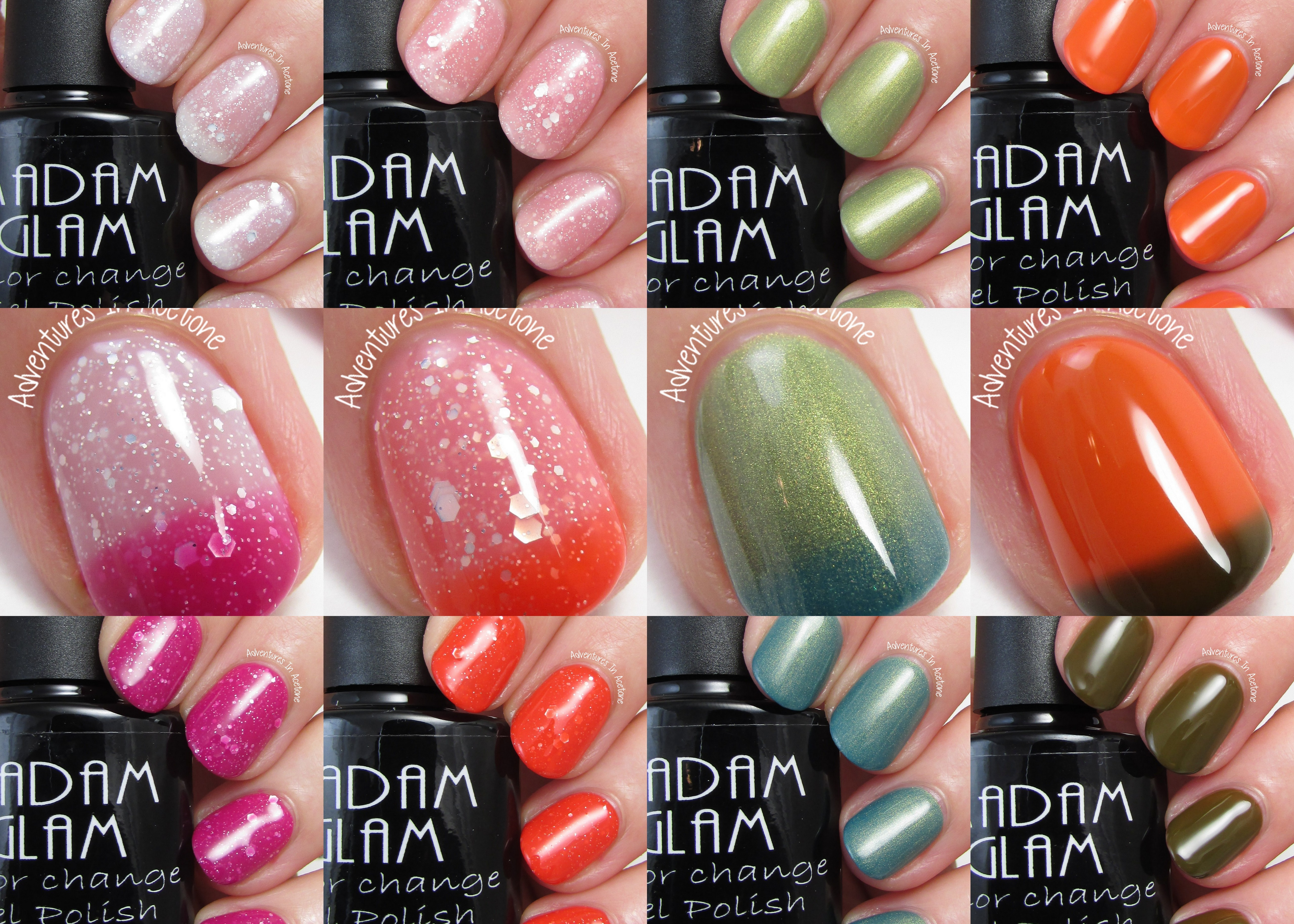 Swatch Sunday: New Madam Glam Chameleon Gels - Adventures In Acetone