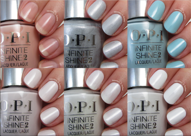 OPI Infinite Shine SoftShades Collection Collage