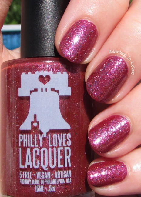 Philly Loves Lacquer Fallen Ember sunlight 1