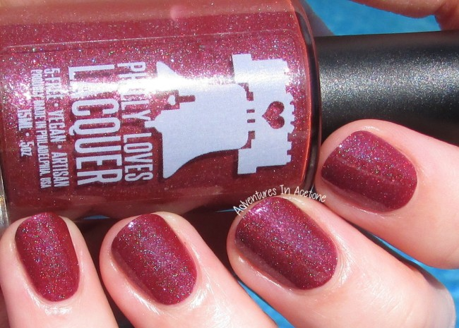 Philly Loves Lacquer Fallen Ember sunlight 2