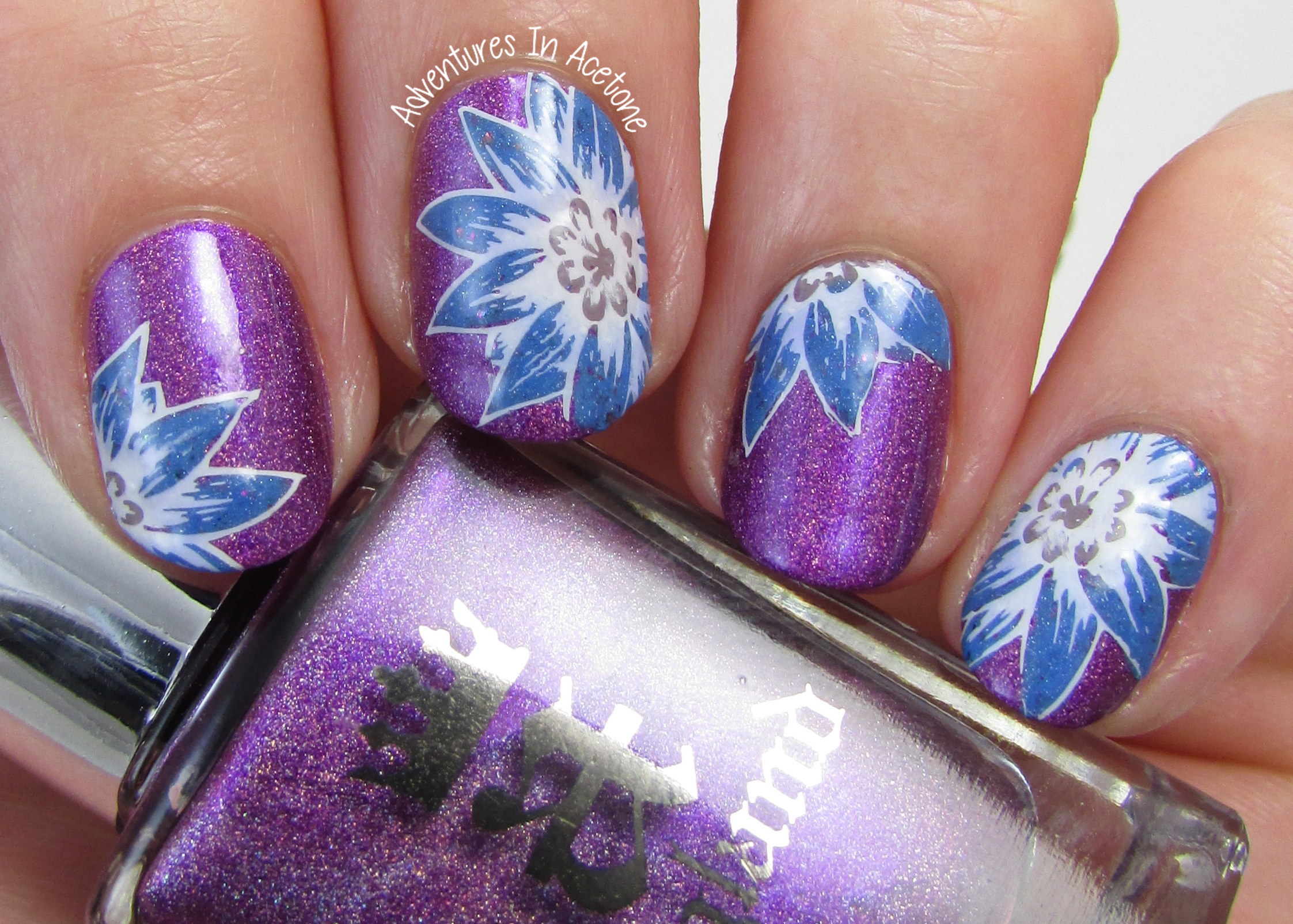 Floral Stamping Decal Nail Art with ÜberChic (+Mini-Tutorial ...