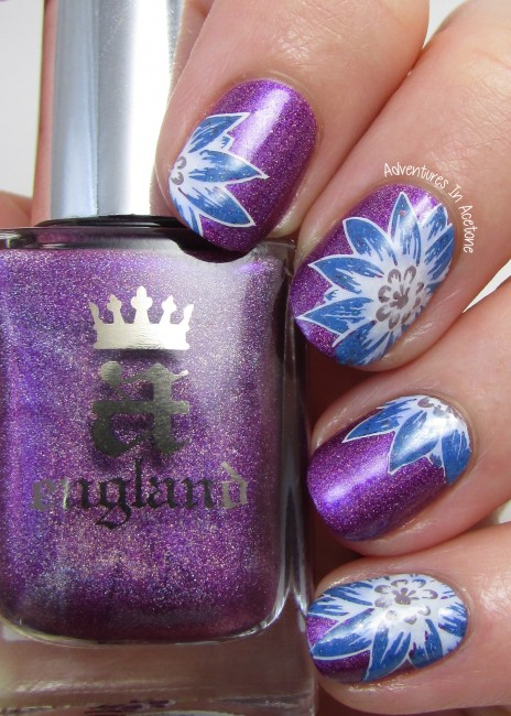 Stamping Decal Floral Nail Art 2