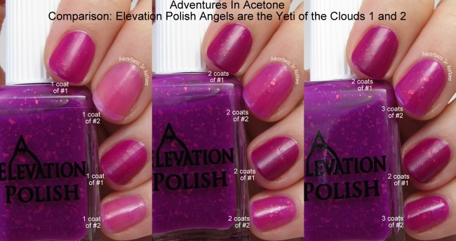 Elevation Polish Angels are the Yeti of the Clouds 2 Comparison
