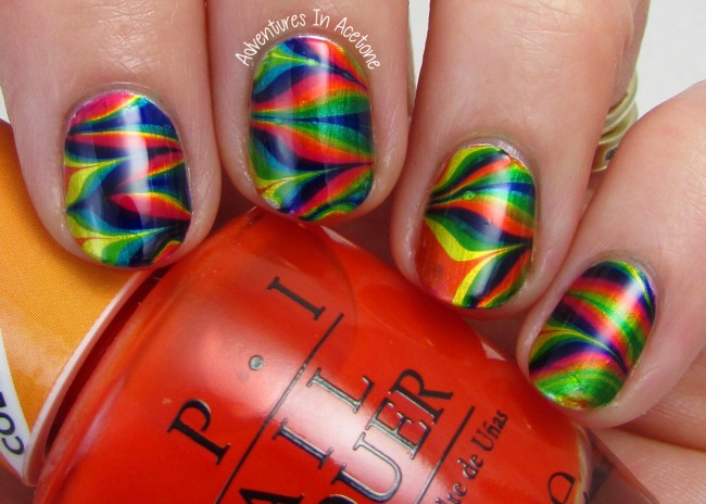 OPI Color Paints Water Marble 2
