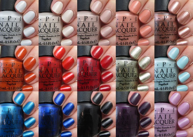 OPI Venice Collection Collage