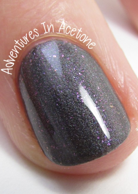 Sweet Heart Polish She's Stark Raving Matte. shiny macro