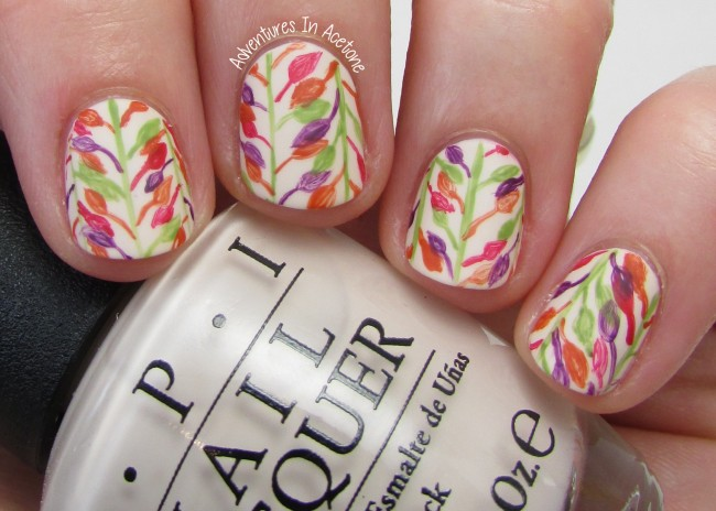Before Winter Comes leaf nail art 1