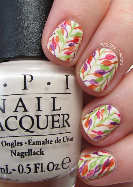 Before Winter Comes leaf nail art 2