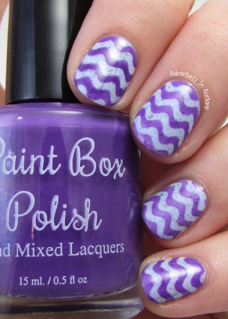 Paint Box Polish The Knight Bus wavy nail art 1