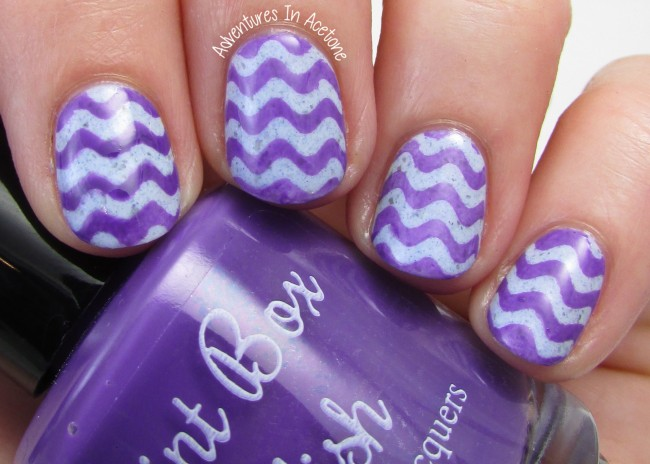 Paint Box Polish The Knight Bus wavy nail art 2
