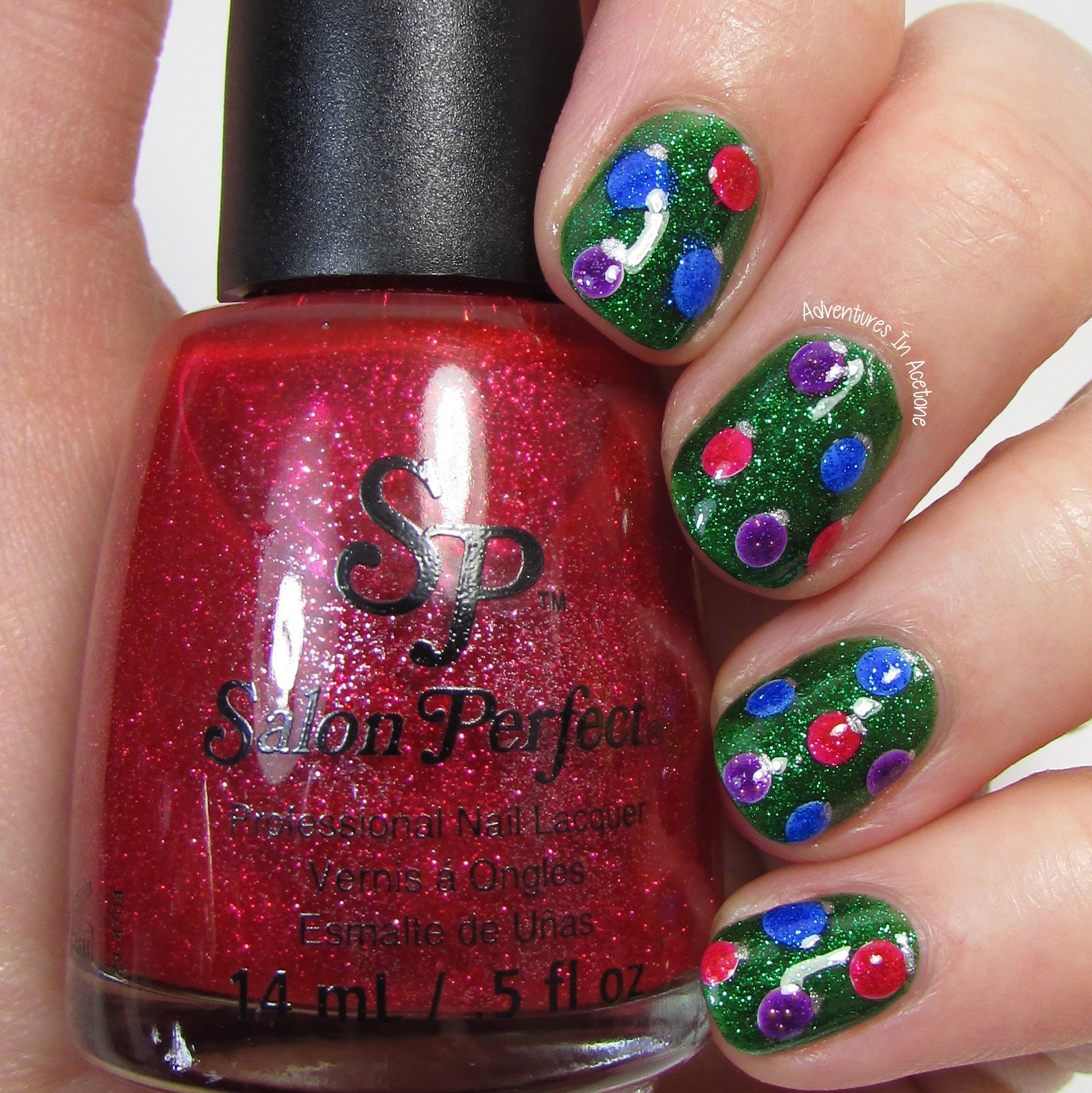 Christmas Tree Nail Art: The Digit-al Dozen DOES Traditions, Day 4: Christmas Tree
