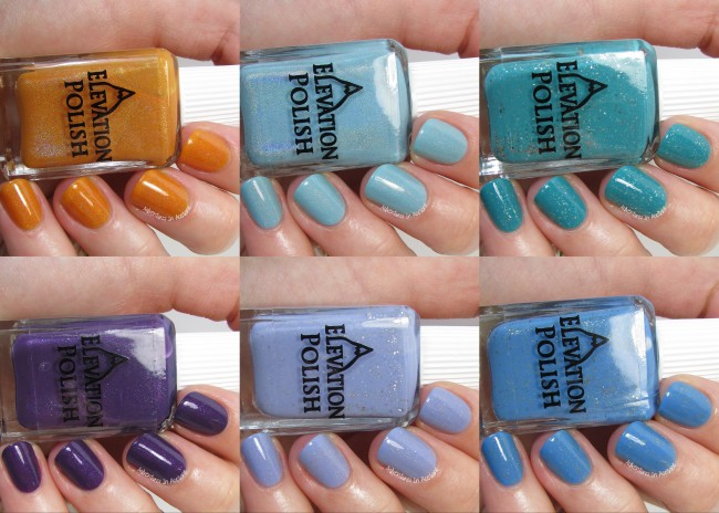 Elevation Polish Exotic India Collection December collage