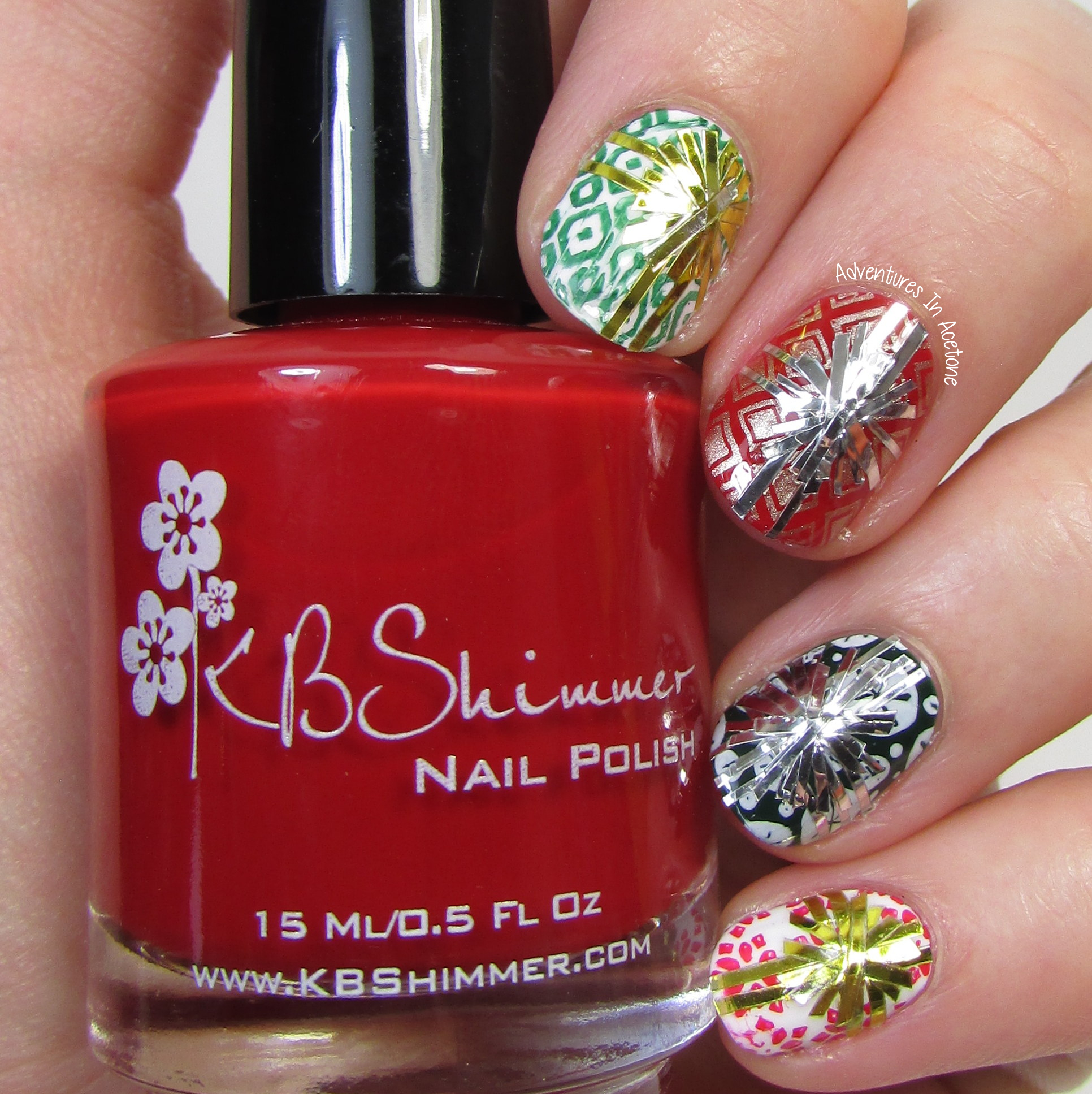 The Digit-al Dozen DOES Traditions, Day 5: Gift Wrap Nail Art (40 ...
