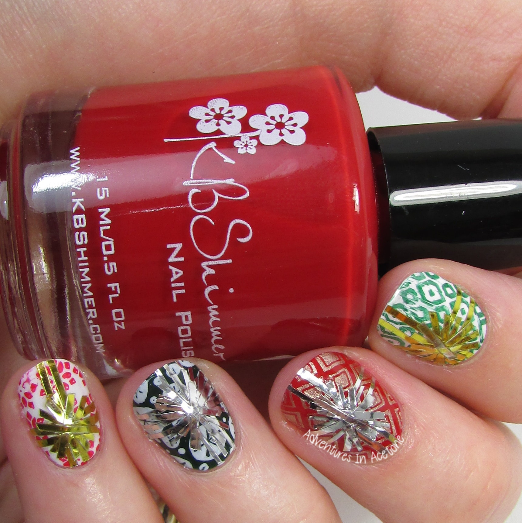 The Digit-al Dozen DOES Traditions, Day 5: Gift Wrap Nail