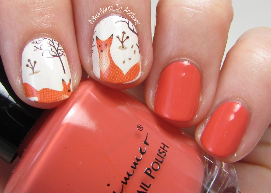 KBShimmer For Fox Sake and Foxy Winter Water Slide Decals ...