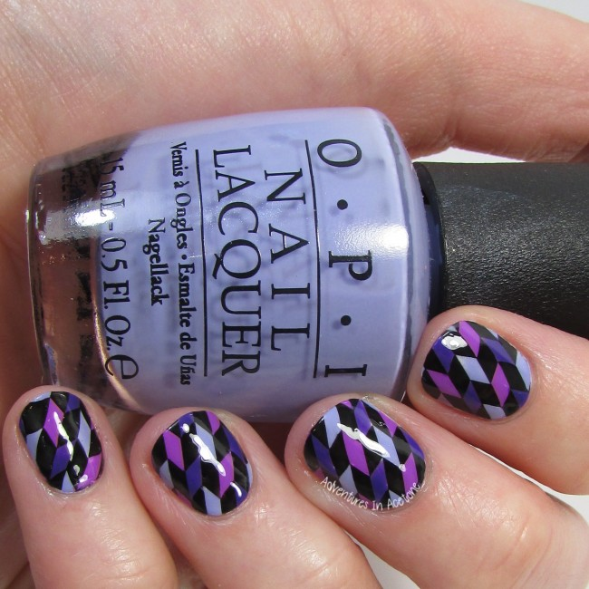 Geometric Purple Nail Art UberChic 2