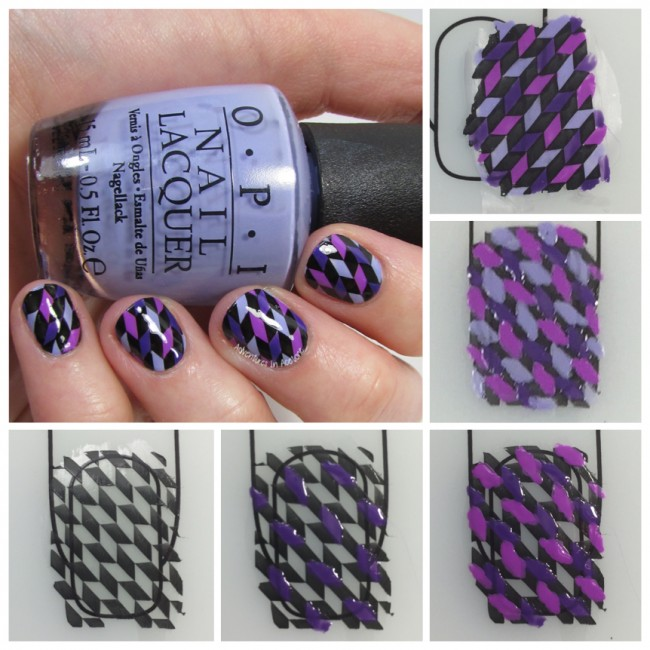 Geometric Purple Nail Art UberChic Collage