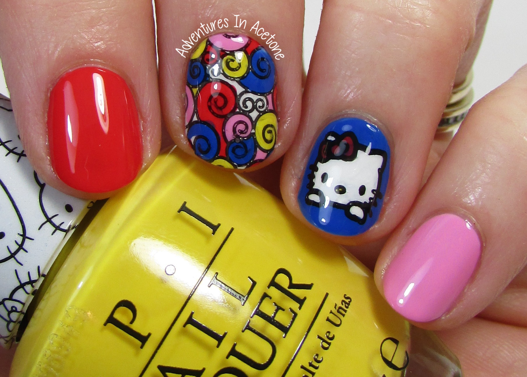 Opi Hello Kitty Nail Art Adventures In Acetone