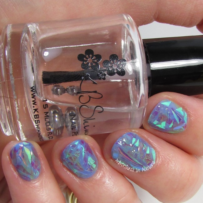 Opal Shattered Glass Nail Art 1-001