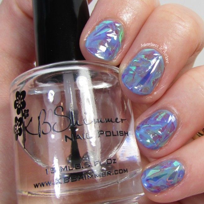 Opal Shattered Glass Nail Art 2