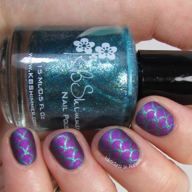 Purple Mermaid Scale Nail Art 2