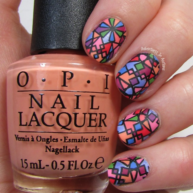 UberChic 6-02 Stained Glass Nail Art 1