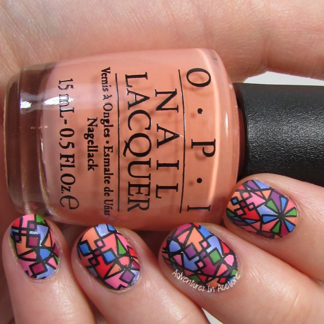 UberChic 6-02 Stained Glass Nail Art 2