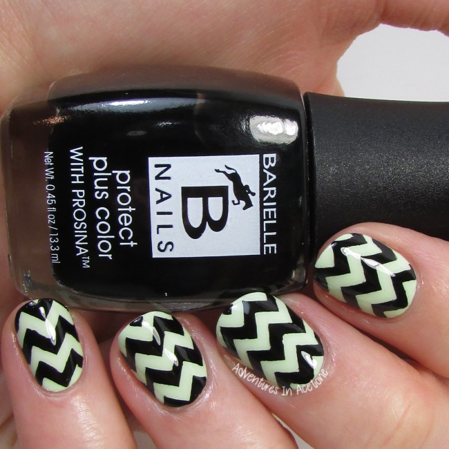 Chevron Nail Art with Barielle Prosina! - Adventures In Acetone