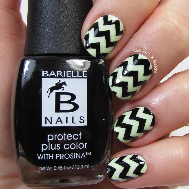 Barielle Chevron Nail Art 2