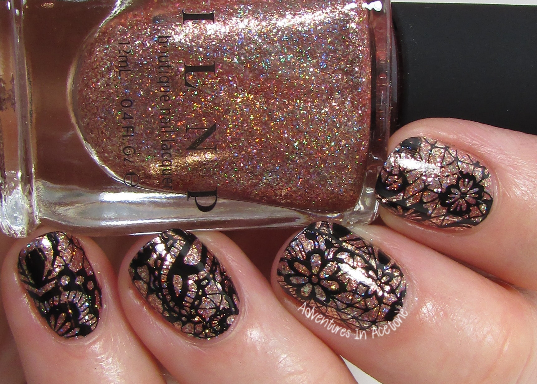 ILNP Juliette + Lace Stamping Nail Art! - Adventures In Acetone