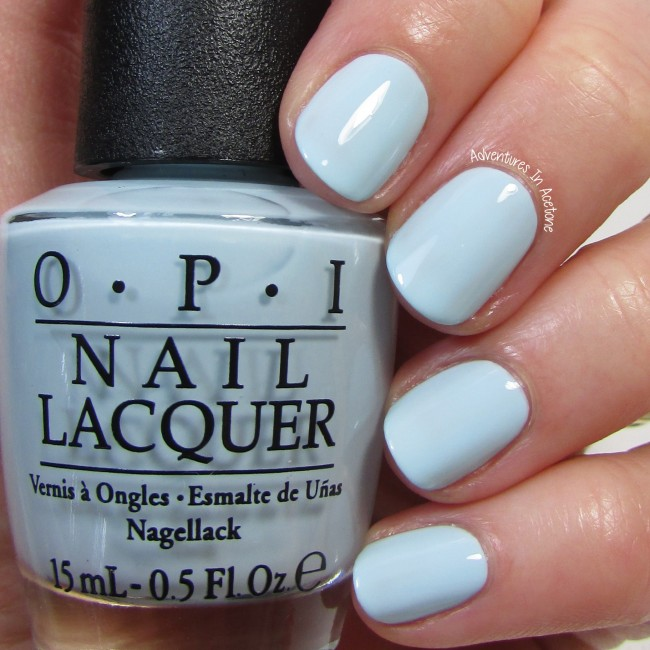 Opi Light Blue Glitter Nail Polish