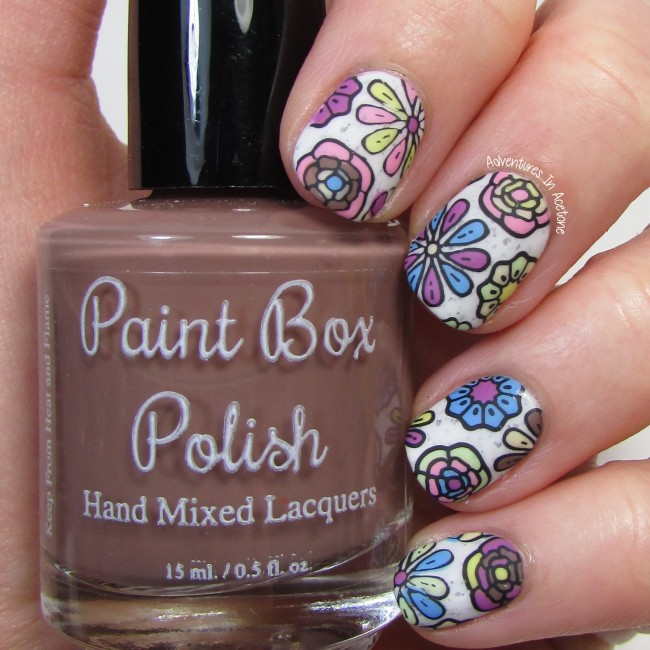 Paint Box Polish Ciao, Gelato Flower Decals 1