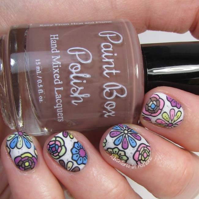 Paint Box Polish Ciao, Gelato Flower Decals 2