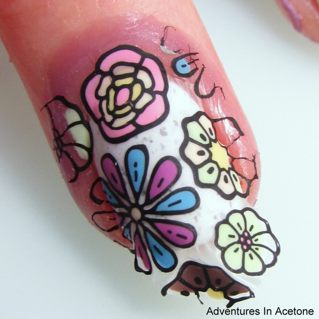 Paint Box Polish Ciao, Gelato Flower Decals Step 11