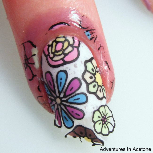 Paint Box Polish Ciao, Gelato Flower Decals Step 12