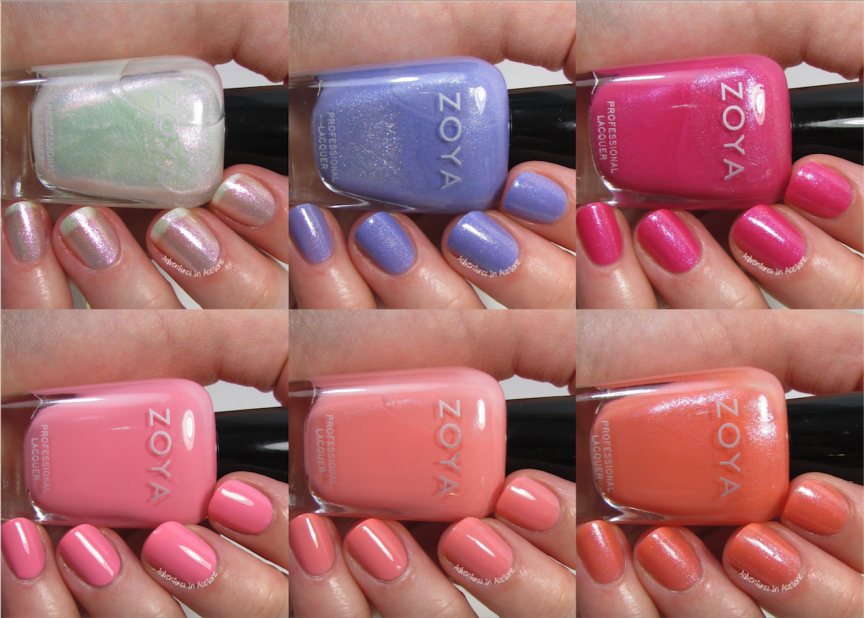Swatch Saturday Zoya Petals Collection For Spring 2016 In Nails