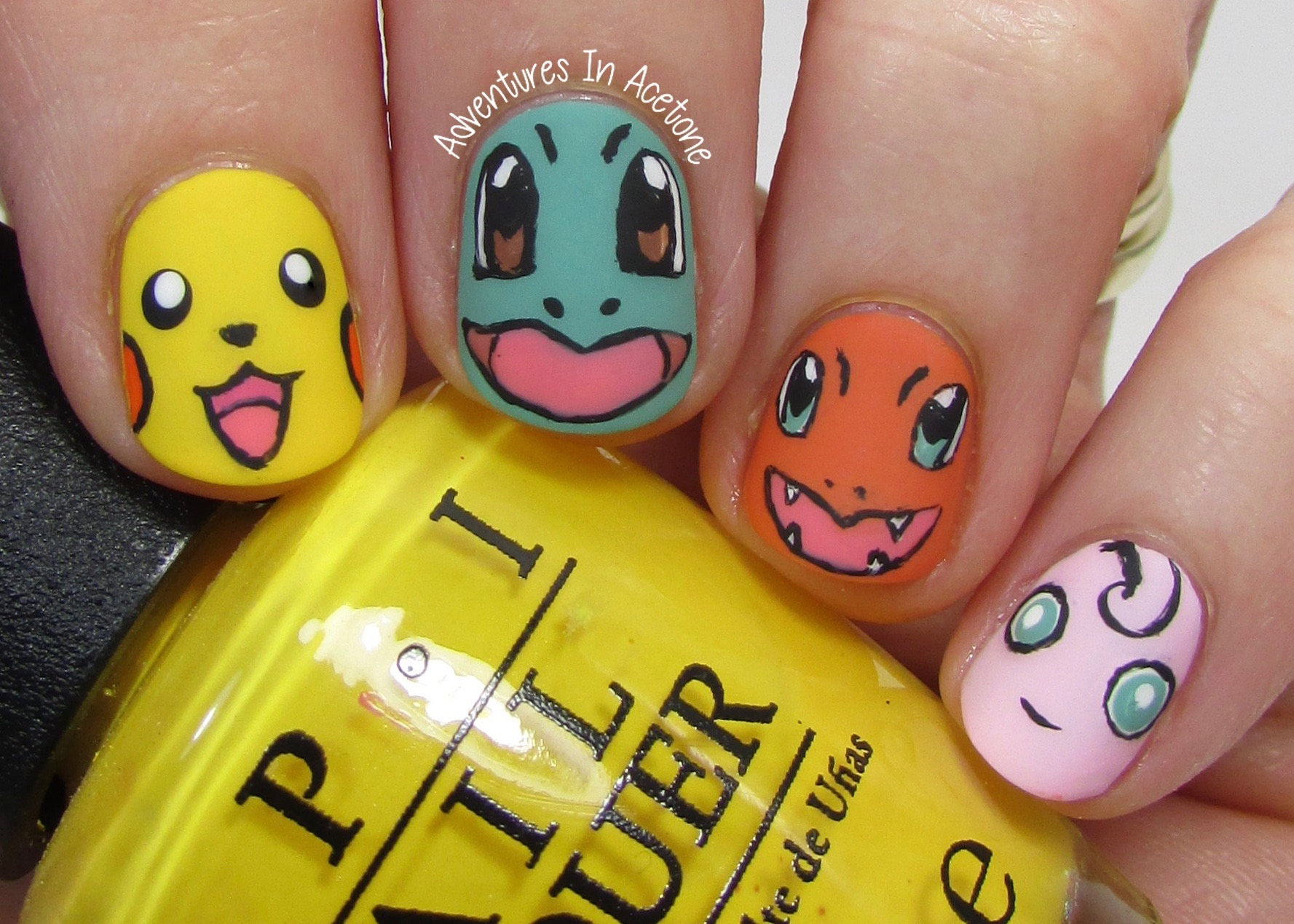 40 Great Nail Art Ideas, Kid\'s TV: Pokémon Nail Art! - Adventures In ...