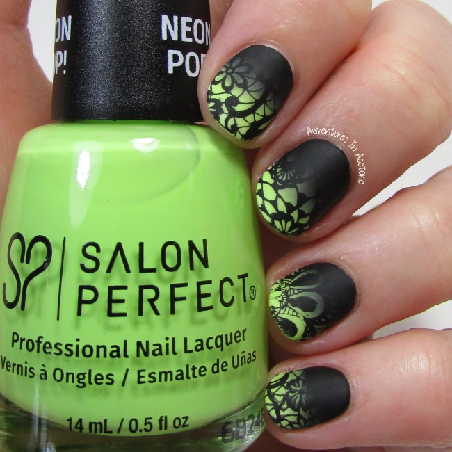 Salon Perfect Lace Nail Art gradient