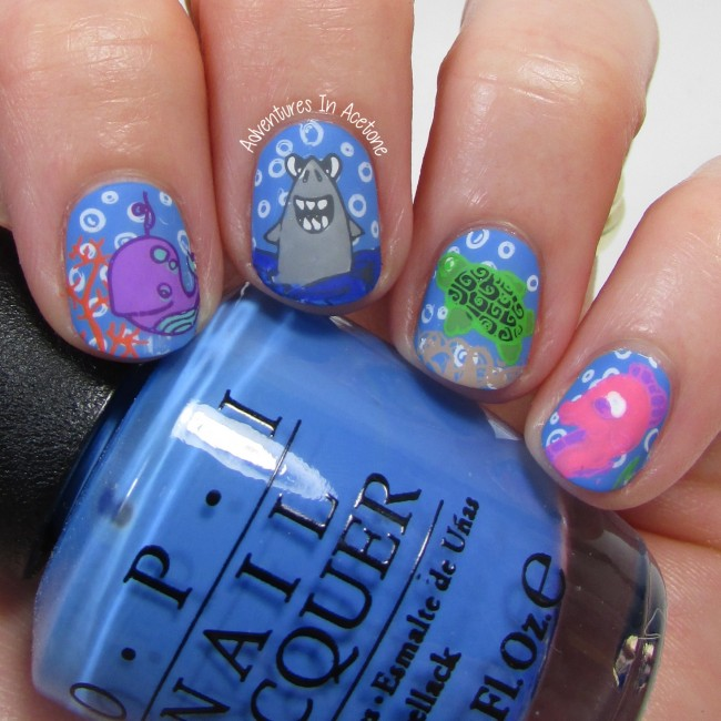 Under The Sea Nail Art with Bundle Monster BM-S166 1-001