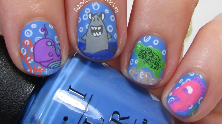 Under The Sea Nail Art with Bundle Monster BM-S166 1