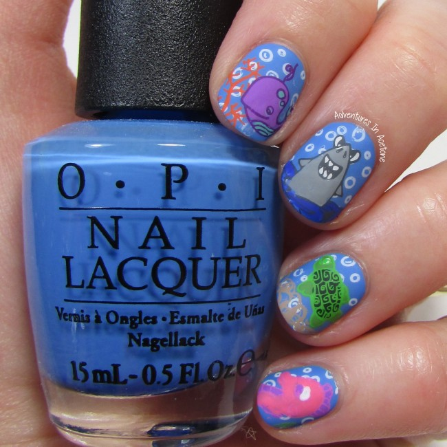 Under The Sea Nail Art with Bundle Monster BM-S166 2