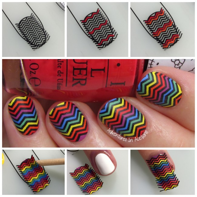 Chevron Tutorial Collage