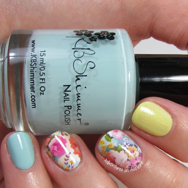 KBShimmer Pastel Floral Water Slide Decal 1